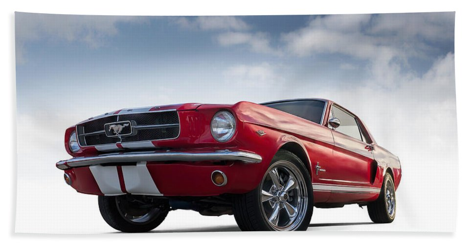 Mustang Hand Towel featuring the digital art Just Horsin' Around by Douglas Pittman