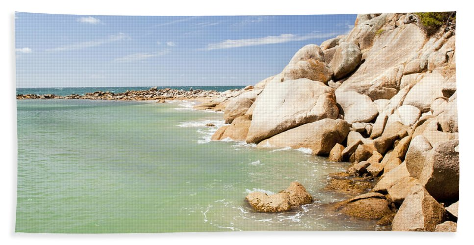 South Australia Hand Towel featuring the photograph Horseshoe Bay South Australia by Tim Hester
