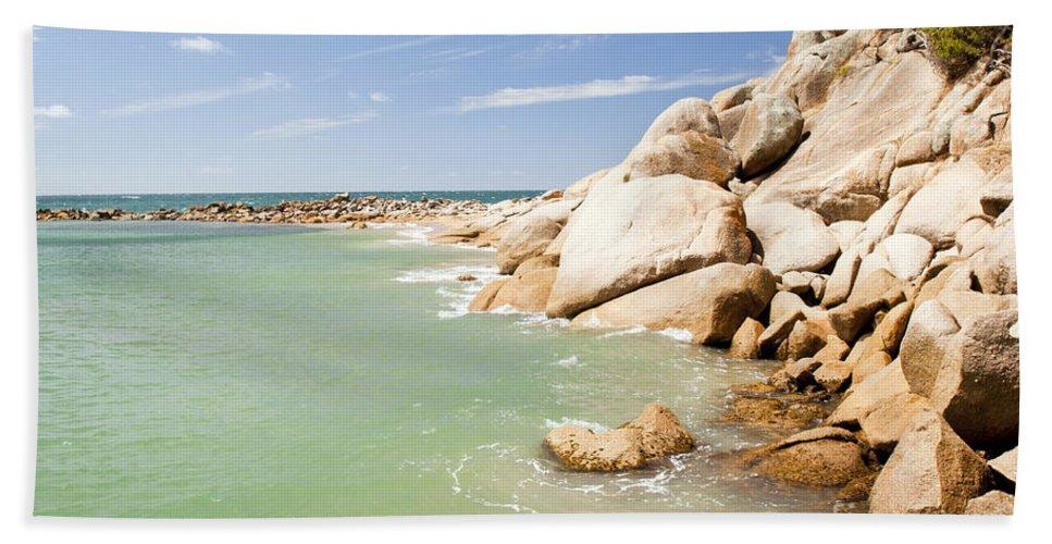South Australia Bath Sheet featuring the photograph Horseshoe Bay South Australia by Tim Hester