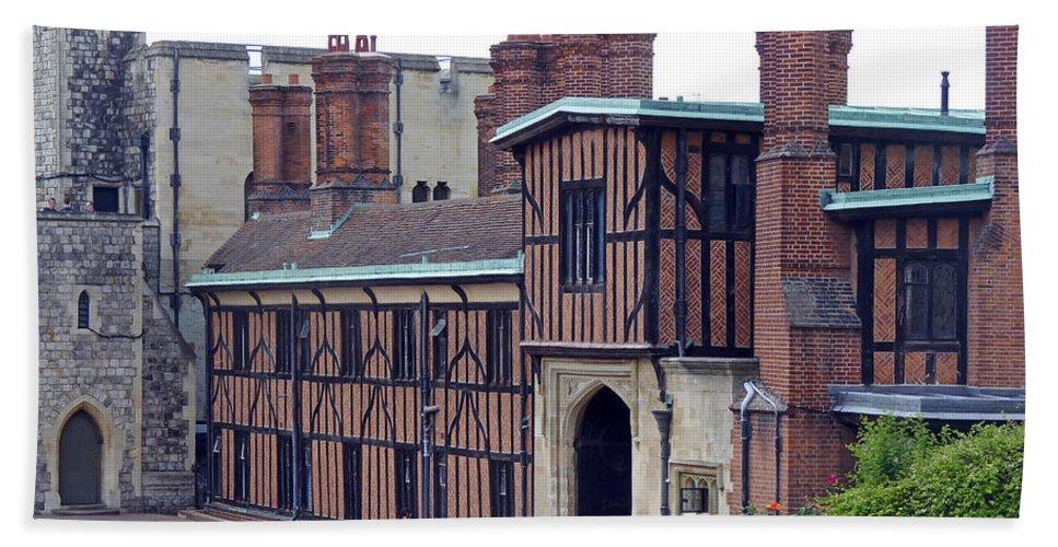 Horseshoe Cloisters Bath Sheet featuring the photograph Horseshoe Cloisters Windsor by Tony Murtagh