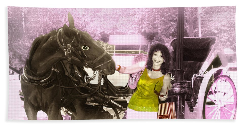 Horse Bath Sheet featuring the photograph Horsing Around by Madeline Ellis