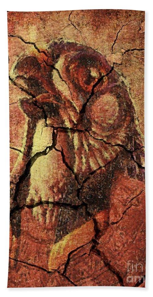 Horus Bath Sheet featuring the drawing Horus - Wall Art by Dragica Micki Fortuna
