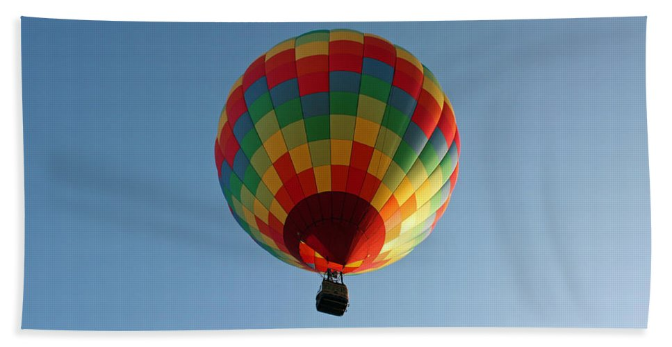 Florida Hand Towel featuring the photograph Hot-air Balloons Over Paradise - Immokalee 2014 Number 2 by Ronald Reid