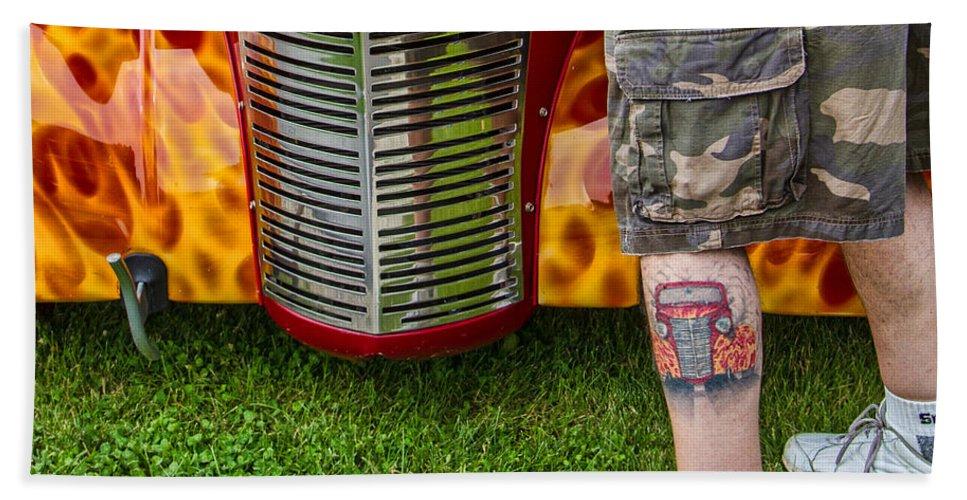 Car Show Bath Sheet featuring the photograph Hot Car by Lindley Johnson