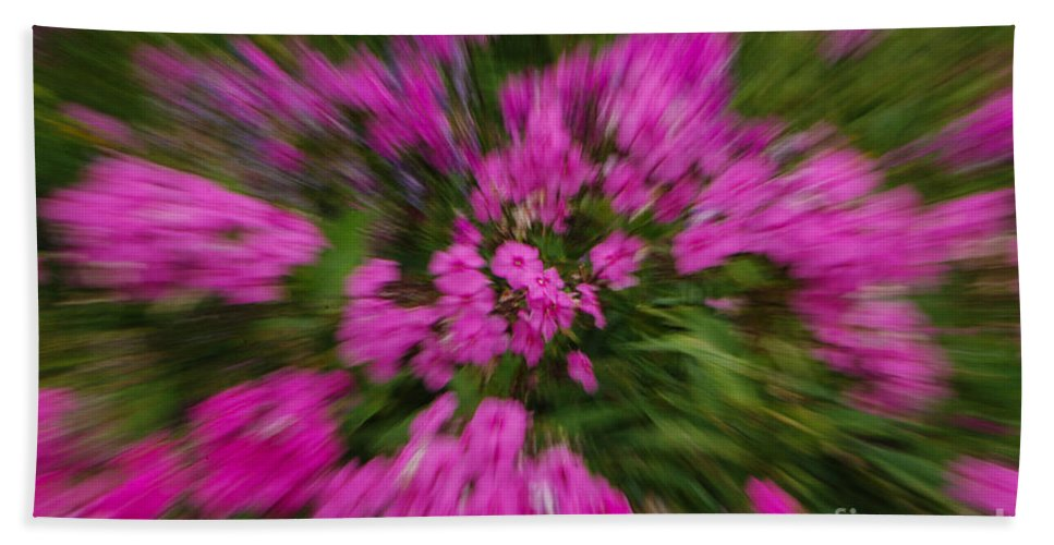 Pink Hand Towel featuring the photograph Hot Pink Flower Zoom by Grace Grogan