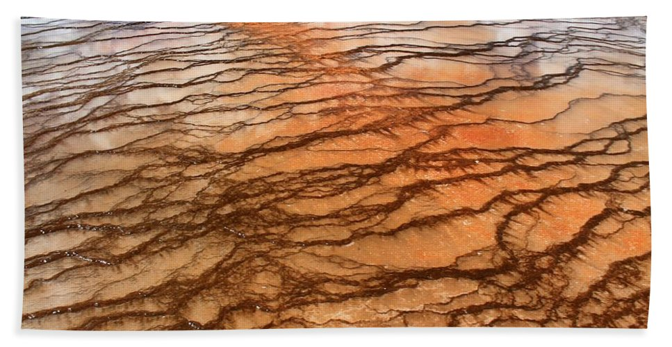 Yellowstone National Park Bath Sheet featuring the photograph Hot Stones by Catie Canetti