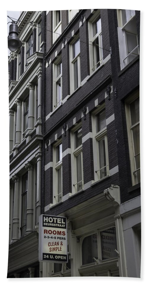 2014 Hand Towel featuring the photograph Hotel Rooms Clean And Simple Amsterdam by Teresa Mucha