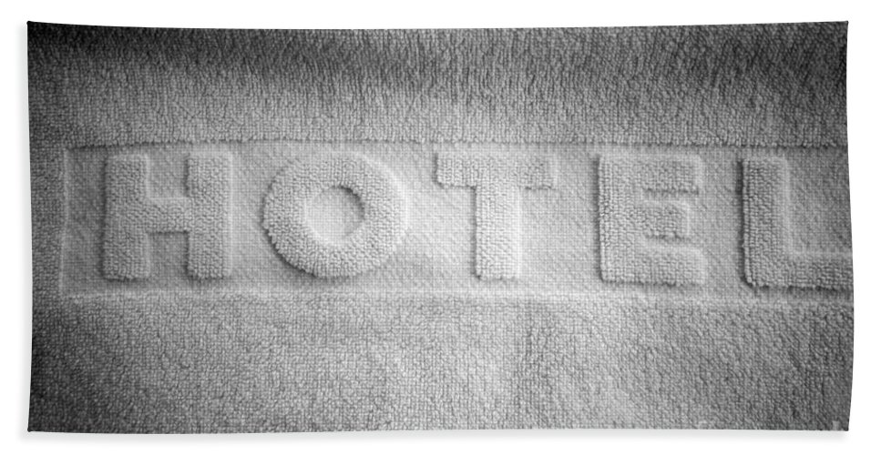 Accommodation Bath Sheet featuring the photograph Hotel Towel by Michal Bednarek
