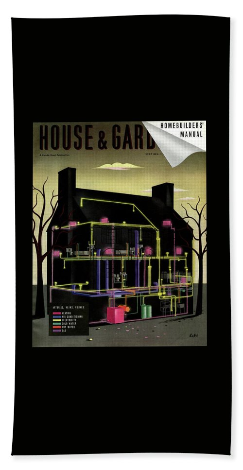 House & Garden Bath Towel featuring the photograph House And Garden Cover Illustration Of The Internal by Victor Bobritsky