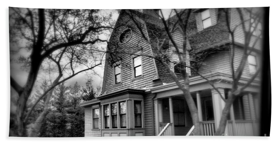 Haunted House Hand Towel featuring the photograph Old House 2 by Miriam Danar