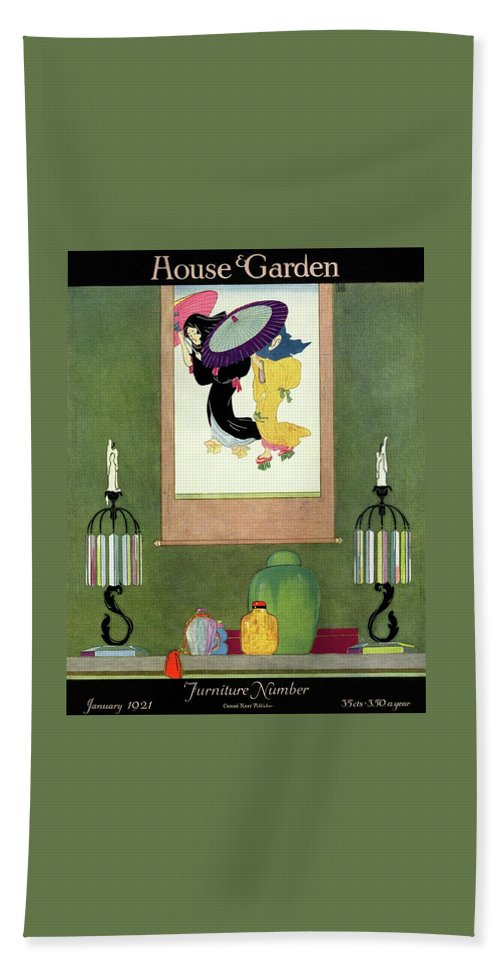 House And Garden Bath Towel featuring the photograph House And Garden Furniture Number by Harry Richardson