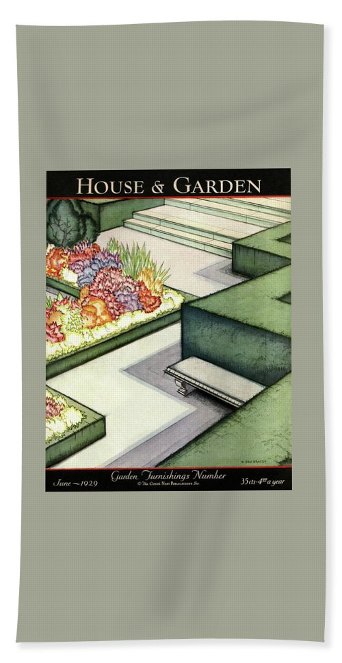 House And Garden Bath Towel featuring the photograph House And Garden Garden Furnishings Number Cover by H. George Brandt