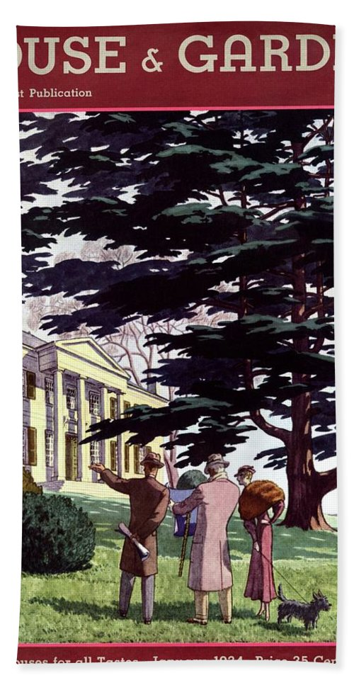 House And Garden Bath Towel featuring the photograph House And Garden Houses For All Tastes Cover by Pierre Brissaud