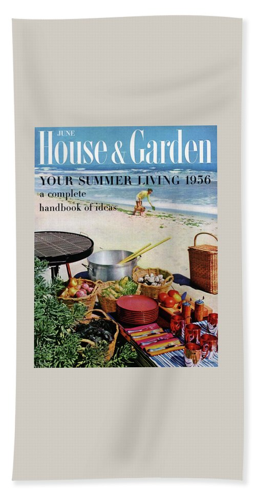 House And Garden Ideas For Summer Issue Cover Bath Towel