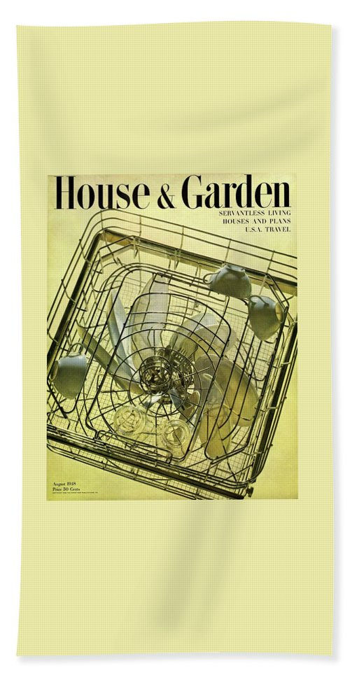 House And Garden Hand Towel featuring the photograph House And Garden Servant Less Living Houses Cover by Herbert Matter