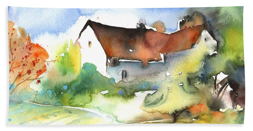 Travel Bath Sheet featuring the painting House In Germany by Miki De Goodaboom
