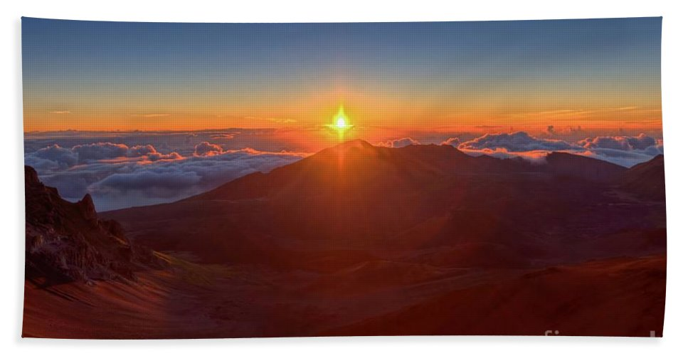 Halakeala Bath Sheet featuring the photograph House Of The Sun by James Anderson