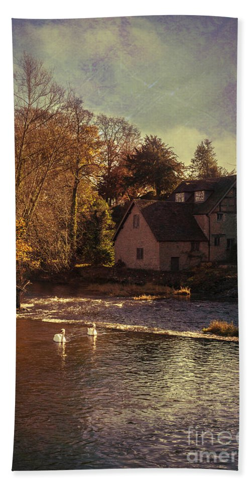 Old Hand Towel featuring the photograph House On The River by Amanda Elwell