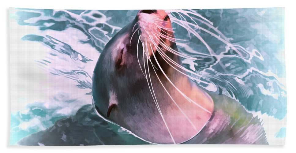 Animal Hand Towel featuring the photograph How Cool by TN Fairey