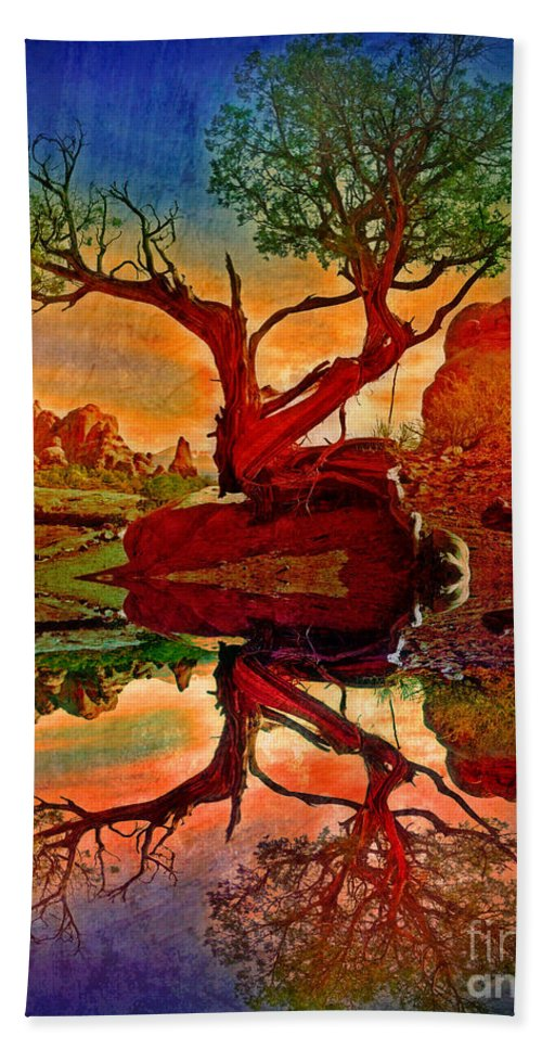 Tree Hand Towel featuring the photograph How One Tree Becomes Two by Tara Turner