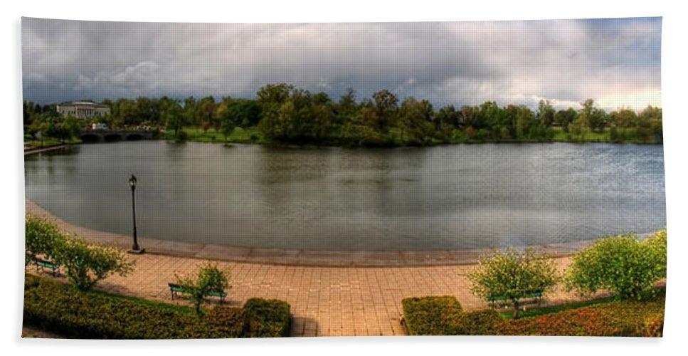 Hoyt Lake Bath Sheet featuring the photograph Hoyt Lake At Delaware Park by Michael Frank Jr
