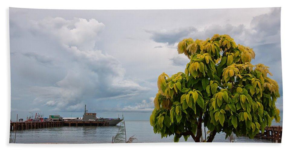 Hua Bath Sheet featuring the photograph Hua Hin Harbour by Antony McAulay