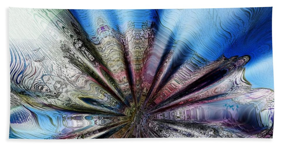 Abstract Hand Towel featuring the photograph Hub Emerging by Richard Thomas