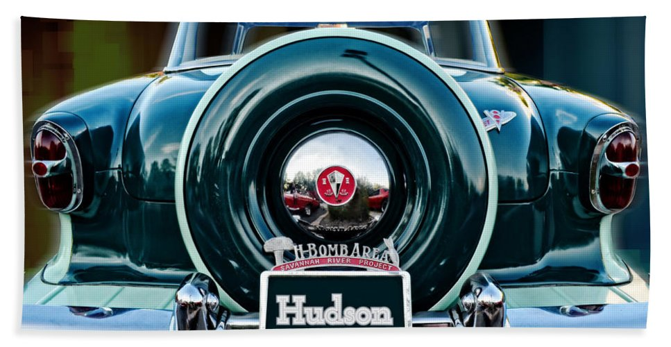 Hudson Motor Company Hand Towel featuring the photograph Hudson by Mary Machare