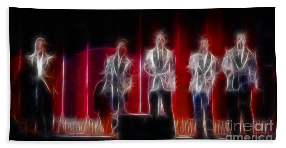 Huey Lewis Bath Sheet featuring the photograph Huey Lewis-ga11a-fractal by Gary Gingrich Galleries