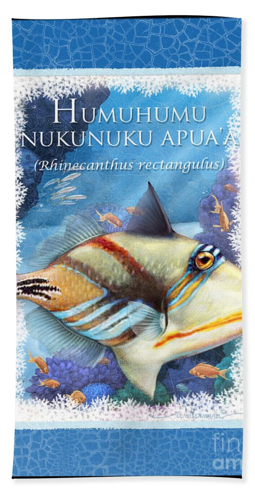 Humuhumunukunukuapua A Hand Towel featuring the digital art Humuhumunukunukuapua'a by Randy Wollenmann