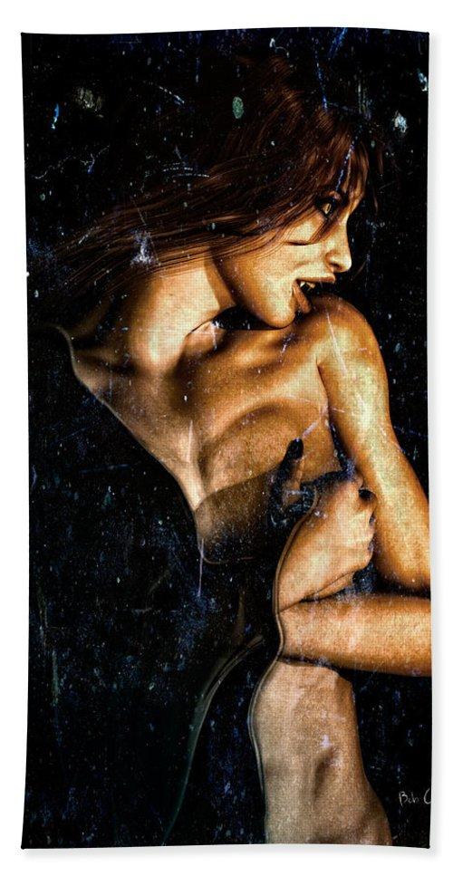 Vampire Bath Sheet featuring the digital art Hunger by Bob Orsillo