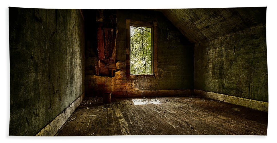 Architecture Bath Sheet featuring the photograph Hunted House In The Daylight by Jakub Sisak