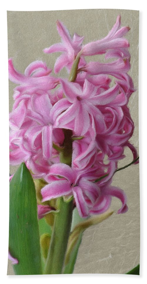 Bloom Hand Towel featuring the painting Hyacinth Pink by Jeffrey Kolker