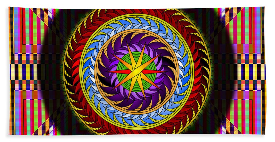 Hypnotic Art Hand Towel featuring the digital art Hypnotico by Mario Carini