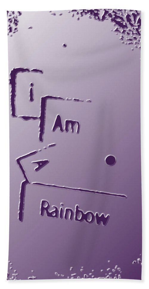 Abstract Photography Hand Towel featuring the photograph I Am A Rainbow by Bill Owen