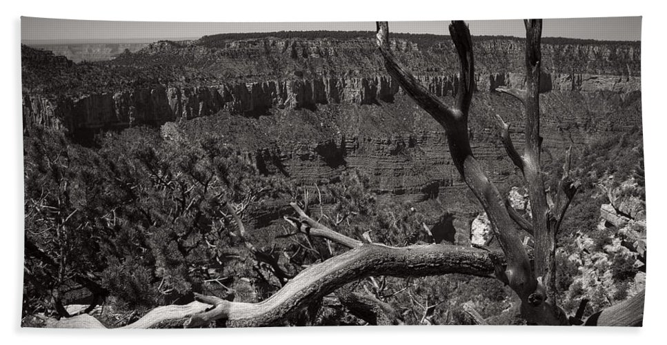 Grand Canyon Bath Sheet featuring the photograph I Am Strong by Lucinda Walter