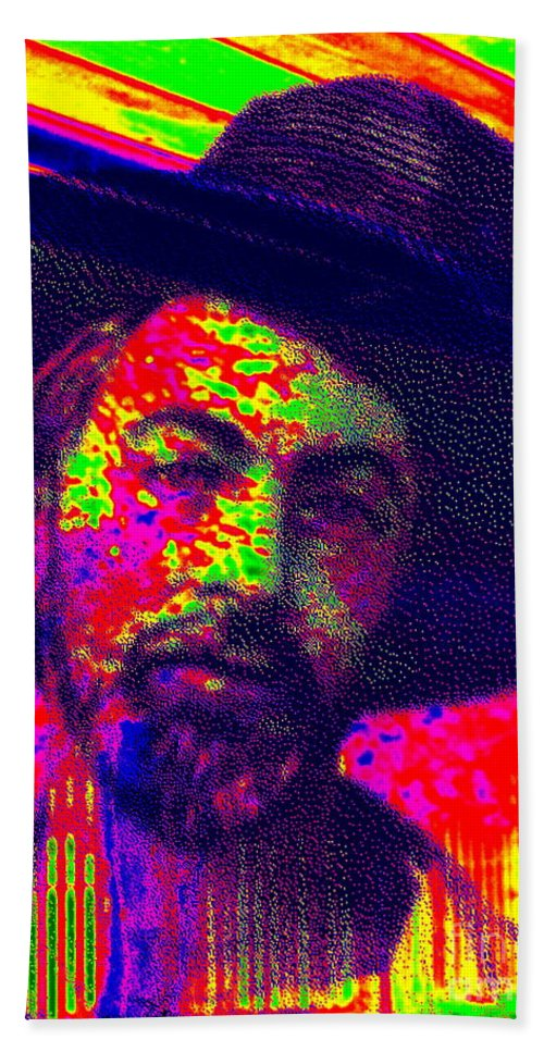 Pop Art Bath Sheet featuring the photograph I Celebrate Myself And Sing Myself  by Ed Weidman