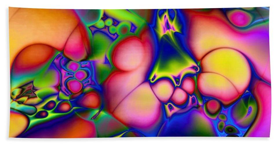 Abstract Bath Sheet featuring the digital art I Don't Think We're In Kansas Anymore by Casey Kotas