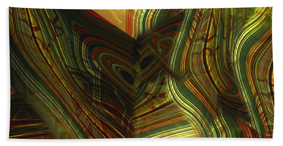 Abstract Hand Towel featuring the painting I Have Set Aside A Block Of Time by RC DeWinter
