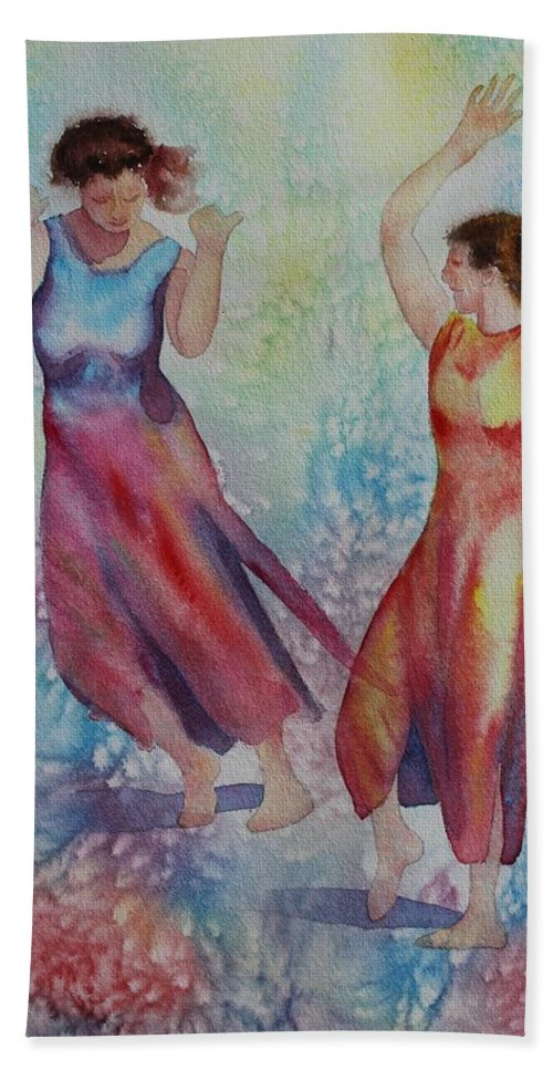 Dance Hand Towel featuring the painting I Hope You Dance by Ruth Kamenev