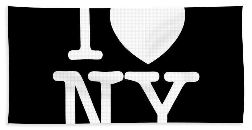 I Bath Sheet featuring the digital art I Love New York by Voros Edit
