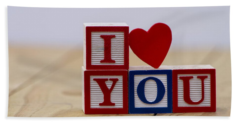 Background Hand Towel featuring the photograph I Love You by Paulo Goncalves