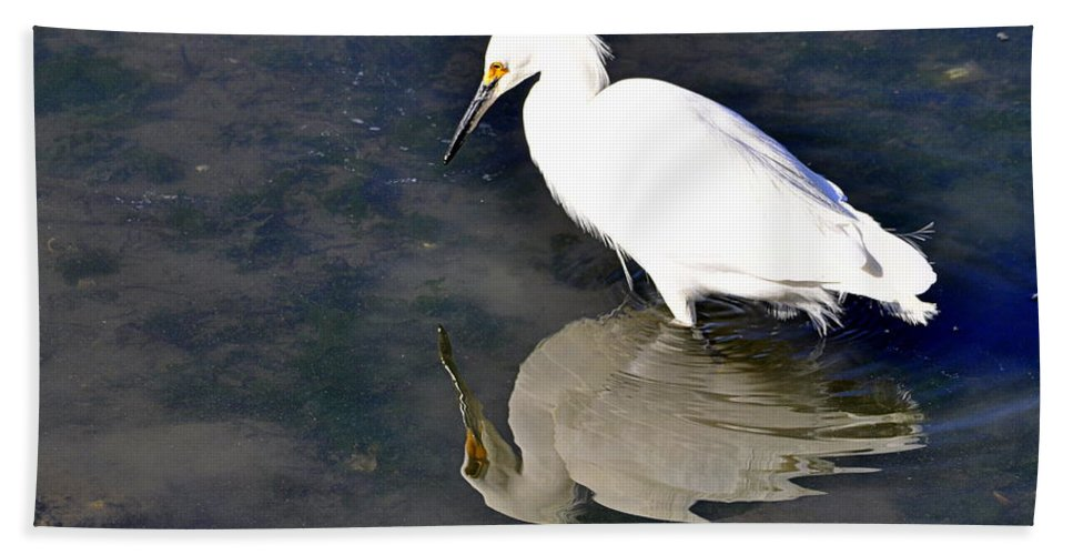 Birds Bath Sheet featuring the photograph I See Me by AJ Schibig