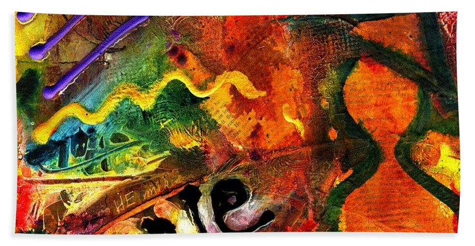 Love Hand Towel featuring the mixed media I Wanna Go Home Now by Angela L Walker