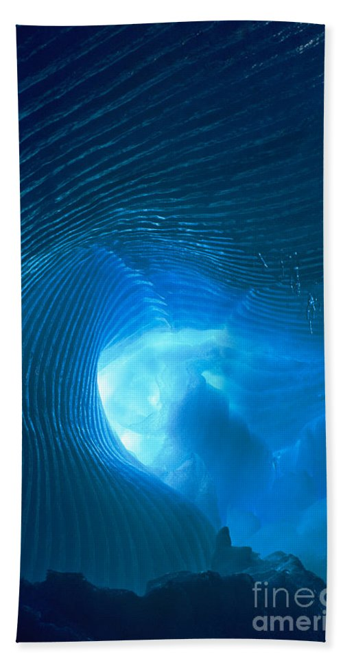 North America Hand Towel featuring the photograph Ice Cave Ripples Sequoia National Park by Dave Welling