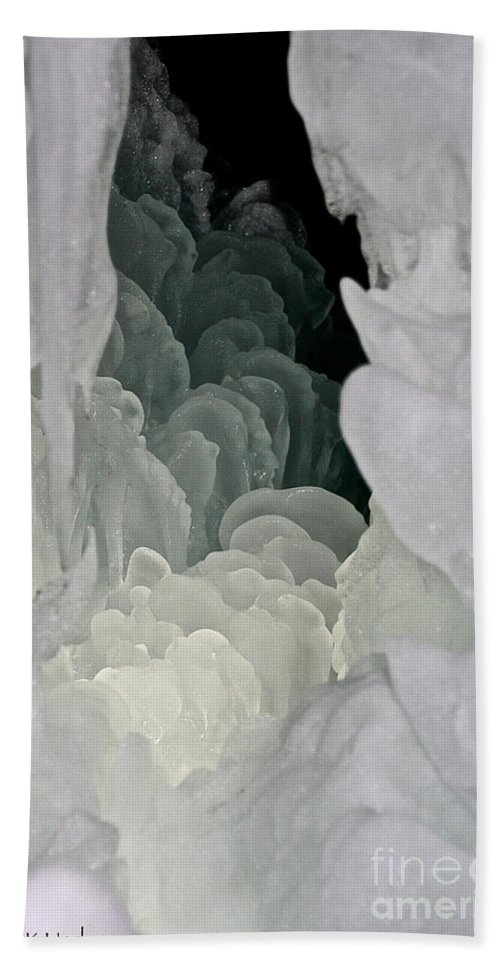 Ice Hand Towel featuring the photograph Ice Scales by Susan Herber