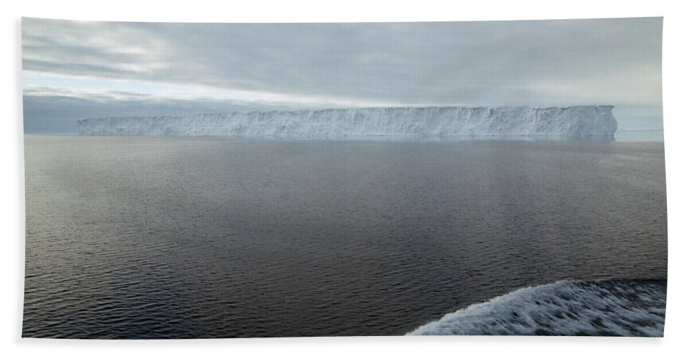 Vast Hand Towel featuring the photograph Iceberg And Polinya In The Ross Sea by Carole-Anne Fooks