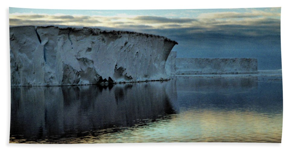 Vast Hand Towel featuring the photograph Iceberg In The Ross Sea At Night by Carole-Anne Fooks