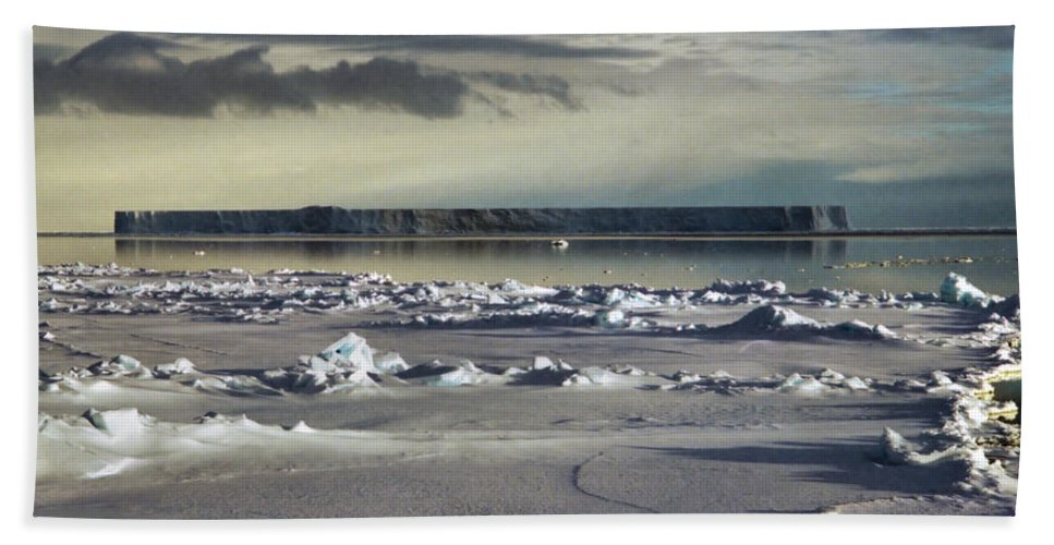Vast Hand Towel featuring the photograph Iceberg In The Ross Sea Night by Carole-Anne Fooks
