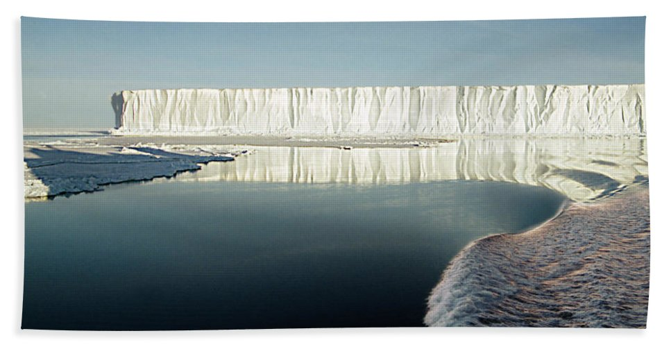 Iceberg Antarctica Hand Towel featuring the photograph Iceberg Ross Sea Antarctica by Carole-Anne Fooks